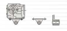 K系列螺旋锥齿轮减速机轴装式减速机的安装示意图