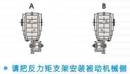 K系列螺旋锥齿轮减速机反力矩支架安装示例
